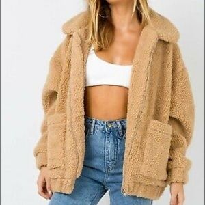 NWT I AM GIA PIXIE COAT CARAMEL XS